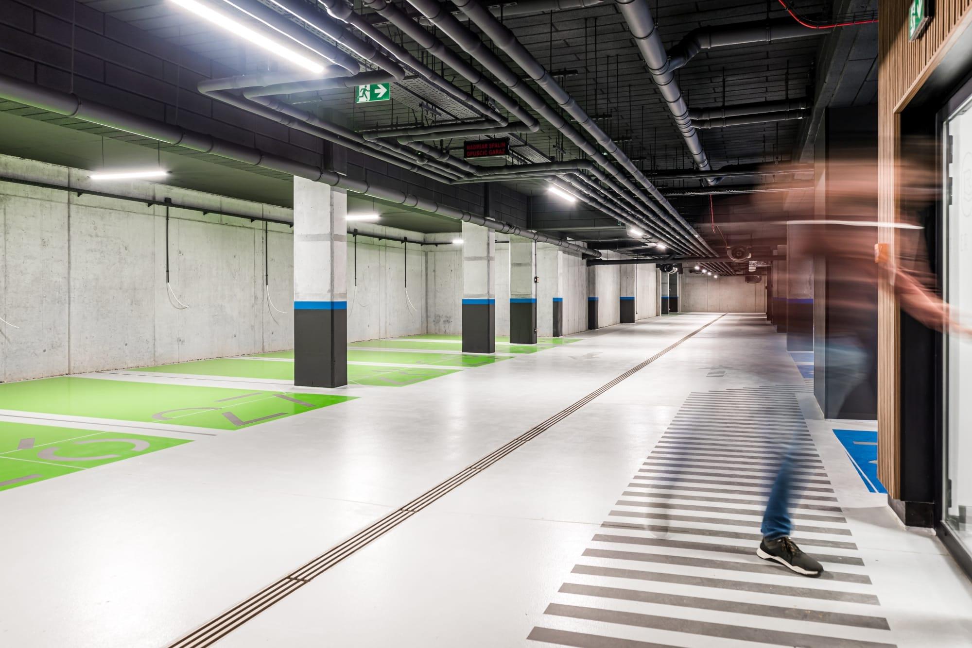 hala parkingowa Kraków inter-floor